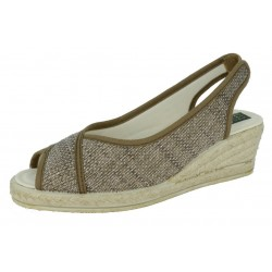 WOOL COLLAR WEDGE SLIPPER