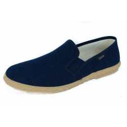 SLIPON ELASTIC NAVY SLIPPER