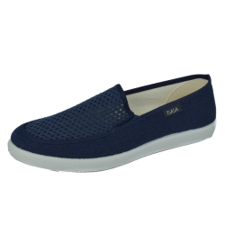MEN NAVY CANVAS MESH ELASTIC