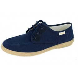 MEN CANVAS SUEDE NAVY LACES...
