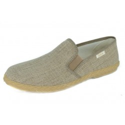 SLIPON ELASTIC BROWN SLIPPER